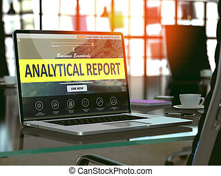Analytical Report Concept on Laptop Screen - Analytical...