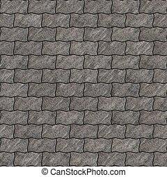 gris, Raspar, paralelogramos, ondulado, pavimentar, losas