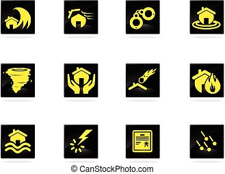 Home Insurance Icons - Home Insurance icon for web sites and...