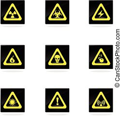 Hazard Sign Icons - Hazard Sign vector icons for web sites...