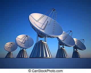 Parabolic dish - 3d render illustration of parabolic dish...
