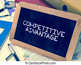 Hand Drawn Competitive Advantage Concept on Small...