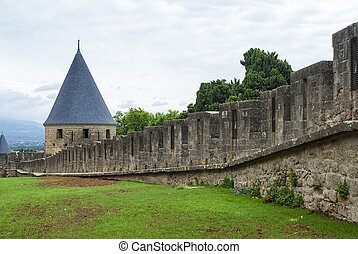 Carcassonne (France), the walls - Carcassonne (Aude,...