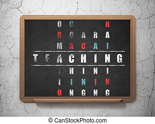 Studying concept: Teaching in Crossword Puzzle - Studying...