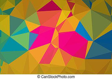 vecteur, polygone, résumé, fond,