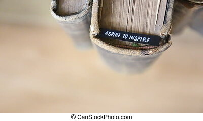 Aspire to Inspire idea - Aspire to Inspire - motivation Text...