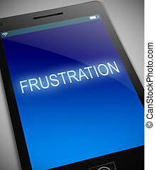 Frustration technology concept - Illustration depicting a...