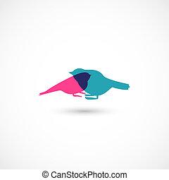 Vector birds - Vector eps10, contains transparency,...