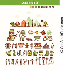 infographic elements for kids about gardening