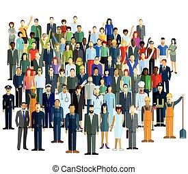 Berufe und Gruppeneps - Sociable population
