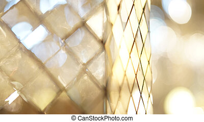 glass mosaic abstract reflection with copy space