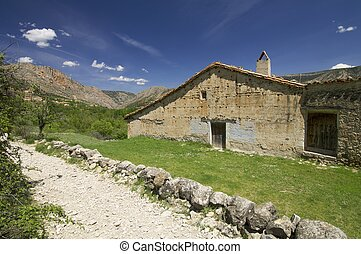 old country house in the province of Teruel, Spain