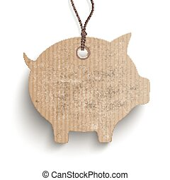 Piggy Bank Price Sticker - Piggy bank price sticker on the...