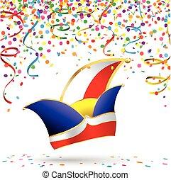 Carnival Colored Confetti Jesters Cap Carnival - Colored...