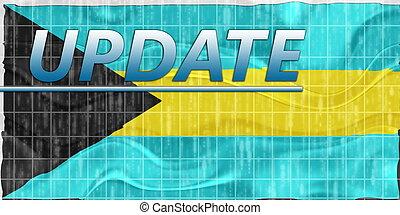 Flag of Bahamas wavy news