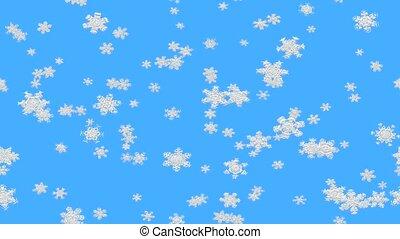 Abstract snowfall clip