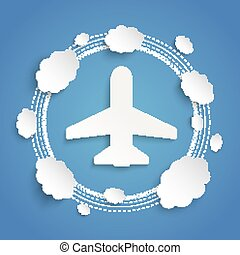 Plane Clouds Cycle Infographic - Infographic design with...