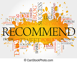 Recommend word cloud, business concept