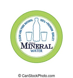 Mineral water - Isolated green banner with a mineral water...