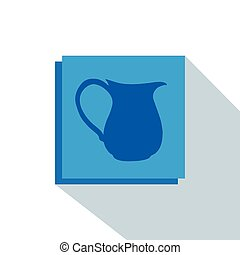 Mineral water - Isolated blue banner with a mineral water...