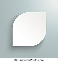 White Paper Leave Template - White paper leave with shadow...