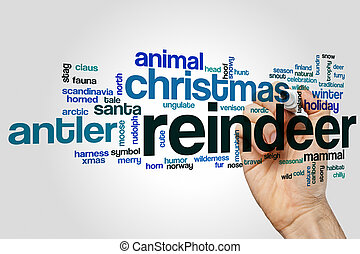 Reindeer word cloud concept - Reindeer word cloud