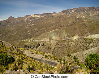 A Highway in the Andes of Peru