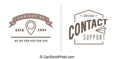 Vector EPS 10 Illustration - Set of Contact us Service...