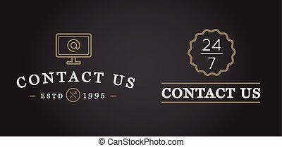 Set of Contact us Signs