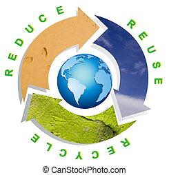 conceptual, reciclaje, símbolo