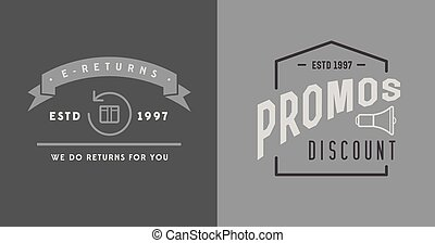 Set of Vector E-Commerce Signs