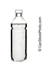 A plastick bottle of water