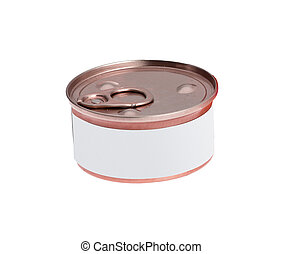 Can on white background