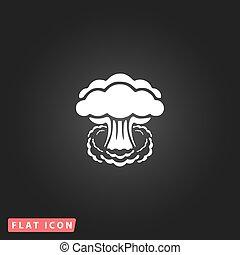 Mushroom cloud flat icon - Mushroom cloud, nuclear...