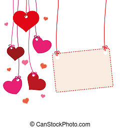 Hanging Hearts Banner  - Hanging hearts with banner