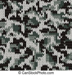 Digital camouflage pattern - Knitting seamless texture with...
