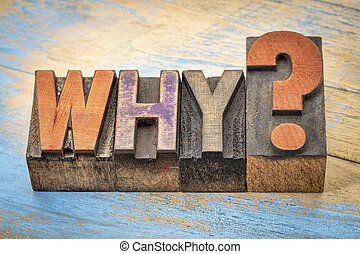 why question in wood type