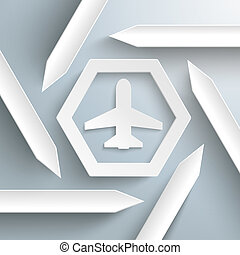 Six Arrows Hexagon Infographic Plane - Infographic with...