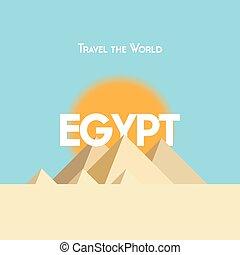 Travel the World poster - Egypt
