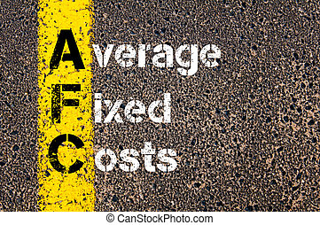 Business Acronym AFC Average Fixed Costs - Concept image of...
