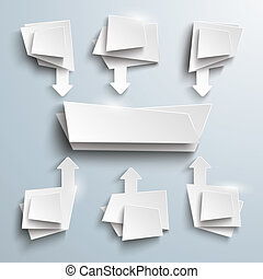White Vector Banners Centre 6 Options Arrows - Banner centre...