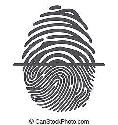 black fingerprint system - Black fingerprint isolated on...