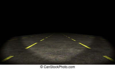 quot;lost highway, car going on empty road, shaking, 4kquot;...