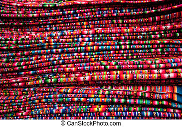 A Textiles Texture on a market in Peru