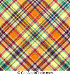 Seamless diagonal checkered pattern - Seamless yellow-orange...