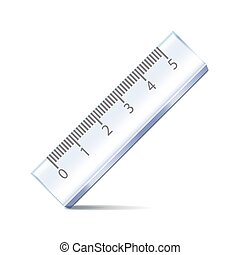 Ruler isolated on white vector - Ruler isolated on white...