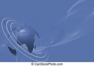 Internet technology bg with globe - Blue technology...