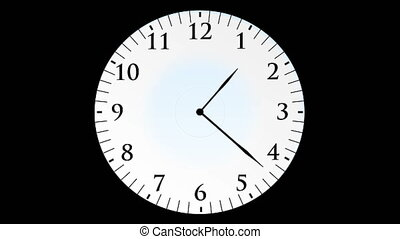 quot;Animation, clock time without seconds, black...