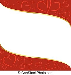 red-white background with a pattern of  hearts