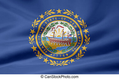 Flag of New Hampshire - Very large flag of New Hampshire